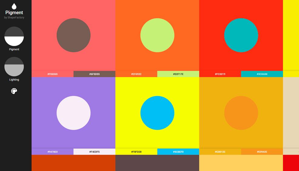 pigment цветовых схем